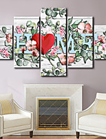 cheap -5 Panels Wall Art Canvas Prints Florals Home Decoration Decor Rolled Canvas No Frame Unframed Unstretched