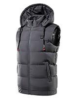 cheap -Men's Vest Gilet Daily Going out Winter Short Coat Zipper Stand Collar Regular Fit Breathable Casual Jacket Sleeveless Plain Pocket Blue Gray Black
