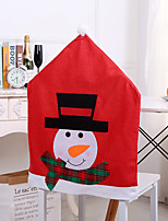 cheap -1 Pc Christmas Chair Back Cover for Dining Room, Santa Claus Snowman Reindeer Xmas Dinner Chairs Cover, Chair Slipcover for Kitchen Hotel Holiday Party Decor