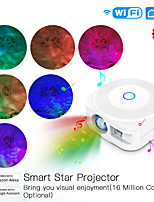 cheap -Star Galaxy Projector Light Projector Light Voice-activated Mode Smart App Control Dimmable colors Christmas Party Gift Multi-colors