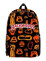 cheap -School Bag Halloween Pumpkin Daypack Bookbag Laptop Backpack with Multiple Pockets for Men Women Boys Girls 44*26*15cm