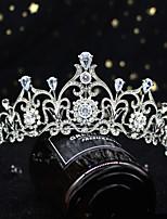 cheap -Bride Wedding Crown Headdress Simple And Exquisite Zircon Wedding Dress With Accessories Rhinestone Birthday Princess Crown