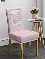 cheap -Cartoon Printed Dining Chair Covers for Kids, Stretch Chair Cover, Spandex High back Chair Protector Covers Seat Slipcover with Elastic Band for Dining Room,Wedding, Ceremony, Banquet