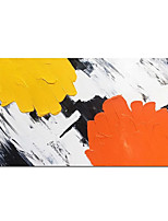 cheap -Oil Painting Handmade Hand Painted Wall Art Modern Orange and Yellow Abstract Picture Home Decoration Decor Rolled Canvas No Frame Unstretched