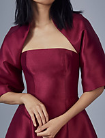 cheap -Half Sleeve Elegant Satin Party Evening / Wedding Party Women's Wrap With Solid