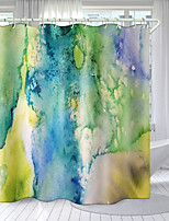 cheap -Plant Colored Mural Series Digital Printing Shower Curtain Shower Curtains  Hooks Modern Polyester New Design