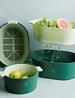 cheap -Double-layer Drain Basket Nordic Simple Ins Style Large Multifunctional Kitchen Sink Plastic Filter Fruit Vegetable Washing Basket