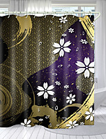 cheap -Simple Pattern Printing Series Digital Printing Shower Curtain Shower Curtains  Hooks Modern Polyester New Design