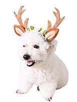 cheap -Pet Christmas Big Antlers Headband Cat Ornaments Christmas Pet Supplies Headband