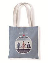 cheap -Fashionable Canvas Shoulder storage Bag Christmas gym reusable portable grocery shopping cloth book tote 33*37 cm