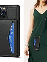 cheap -Phone Case For Apple Back Cover iPhone 12 Pro Max 11 SE 2020 X XR XS Max 8 7 Card Holder Shockproof Dustproof Solid Colored PU Leather