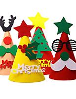 cheap -Christmas Diy Decoration Cartoon Hat Old Man Lucky Leaf Snowman Tree Deer Hat Child Headwear Three-dimensional Hat