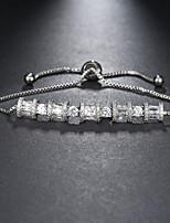 cheap -Women's Clear Cubic Zirconia Bracelet Geometrical Heart Stylish Simple Titanium Steel Bracelet Jewelry Silver / Gold For Daily Promise
