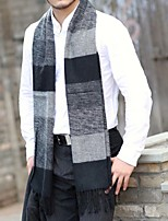 cheap -Men's Rectangle Scarf Casual Army Green Scarf Striped