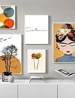 cheap -Wall Art Canvas Prints Floral Home Decoration Decor Rolled Canvas No Frame Unframed Unstretched