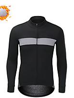 cheap -CAWANFLY Men's Cycling Jacket Winter Bike Tracksuit Winter Jacket Top Thermal Warm Fleece Lining Sports Black Clothing Apparel Standard Fit Bike Wear / Long Sleeve / Micro-elastic / Athleisure