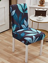 cheap -Stretch Kitchen Chair Cover Slipcover for Dinning Party Plants Four Seasons Universal Super Soft Fabric Retro Hot Sale