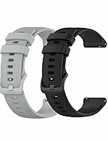 cheap -yeejok silicone watch bands compatible for samsung galaxy watch 3 45mm /galaxy watch 46mm /samsung gear s3 frontier/classic, 22mm silicone watch strap for men women-black+gray