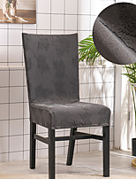 cheap -Stretch Kitchen Chair Cover Slipcover Jacquard for Dinning Party Soft Comfortable Elegant Chairs Covers