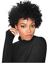 cheap -Human Hair Wig Short Kinky Curly Pixie Cut Natural Women Sexy Lady New Capless Burmese Hair Women's Natural Black #1B 6 inch