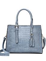 cheap -Women's Bags PU Leather Top Handle Bag Zipper Date Office & Career Handbags Blue Khaki Black Red