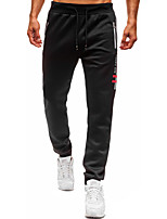 cheap -Men's Classic Style Casual Soft Outdoor Pants Chinos Cotton Casual Sports Pants Solid Color Full Length Classic Black Dark Gray Red