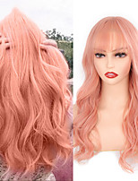 cheap -Pink Hair Synthetic Wig Long Wavy Wigs Heat Resistant For Women Daily / Party Natural Cosplay Wig