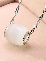 cheap -Pendant Necklace Necklace Women's Classic Cubic Zirconia Simple Fashion Classic Casual / Sporty Sweet Cute White 45 cm Necklace Jewelry 1pc for Street Gift Daily Prom Festival Geometric irregular