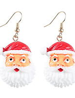 cheap -Women's Earrings Classic Santa Suits Stylish Simple Resin Earrings Jewelry White For Christmas Street Festival 1pc