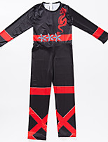 cheap -Ninja Hat Kid's Boys' Halloween Club Uniforms Festival Halloween Masquerade Festival / Holiday Terylene Red / Black Easy Carnival Costumes Print