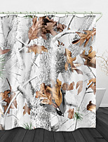 cheap -Autumn Fall Leaves Printed Waterproof Fabric Shower Curtain Bathroom Home Decoration Covered Bathtub Curtain Lining Including Hooks.