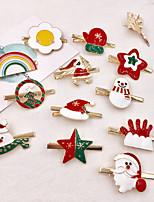 cheap -12 Pcs/set Christmas Antler Hairpin Adult Hair Accessories Children Christmas Hairpin Handmade Duckbill Clip Cute Headdress