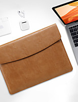 cheap -Laptop Sleeve Bag For Macbook Air Pro 13 11 12 13.3 15 Notebook Cover For XiaoMi Huawei Matebook PU Leather Waterproof Laptop Case
