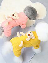 cheap -Cute Pet Dog Costume, Soft Cotton Puppy Pajamas, Autumn Winter Pet Warm Coat Jumpsuit Clothes for Small Medium Large Dogs