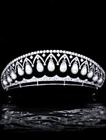 cheap -Classical Retro Pearl Zircon Crown Russian Queen Crown Bridal Wedding Headdress Wedding Hair Accessories