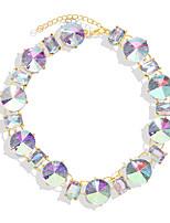 cheap -Necklace Women's Geometrical Luxury Luminous Wedding Rainbow 43.8 cm Necklace Jewelry 1pc for Wedding Geometric