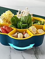 cheap -Double Rotating Storage Tray Fruit Vegetable Tray Dried Fruit Tray Household Fruit Tray Split Rotating Hot Pot Tray