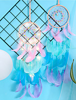 cheap -Boho Dream Catcher Handmade Gift Wall Hanging Decor Art Ornament Craft Bead Feather For Kids Bedroom Wedding Festival