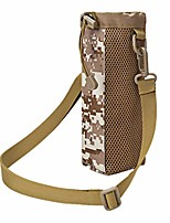 cheap -water bottle kettle carrier tactical bag with adjustable shoulder strap suit for outdoor sports camping hiking accessories (camouflage brown)
