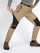 cheap -Men's Hiking Pants Trousers Softshell Pants Patchwork Winter Outdoor Standard Fit Waterproof Windproof Fleece Lining Warm Below Knee Pants / Trousers Bottoms Dark Grey Army Green Grey Khaki Black Ski