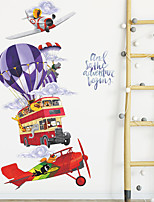 cheap -Animals Cartoon Wall Stickers Living Room Kids Room Kindergarten Removable Pre-pasted PVC Home Decoration Wall Decal 2pcs
