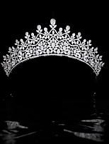 cheap -High-end Bride Wedding Zircon Crown Wedding Headdress Wedding Hair Accessories Princess Crown Wedding Jewelry