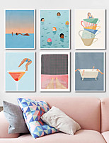 cheap -Wall Art Canvas Prints Painting Artwork Picture People Cartoon Holiday Nursery Home Decoration Dcor Rolled Canvas No Frame Unframed Unstretched