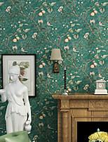 cheap -Wallpaper Wall Covering Sticker Film Peel and Stick Removable Plant Retro Rural Non Woven Home Decor 53*1000cm
