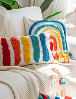 cheap -1 pcs Polyester Pillow Cover, Striped European Rectangular Zipper Traditional Classic
