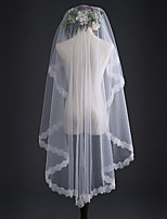 cheap -One-tier Classic Style Wedding Veil Elbow Veils with Embroidery / Appliques 59.06 in (150cm) POLY