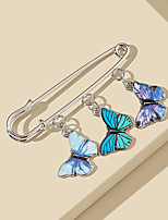 cheap -Women's Stud Earrings Tropical Butterfly Vintage Modern Cute Sweet Earrings Jewelry Blue For Party Gift Daily Prom Club 1pc