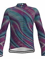 cheap -21Grams Men's Long Sleeve Cycling Jersey Spandex Polyester Purple 3D Funny Bike Top Mountain Bike MTB Road Bike Cycling Quick Dry Moisture Wicking Breathable Sports Clothing Apparel / Stretchy