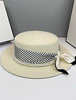 cheap -Elegant Retro Wool Hats with Bowknot / Pearls / Satin Bowknot 1pc Wedding / Tea Party Headpiece