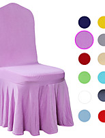cheap -Solid Color Hotel Dining Chair Covers, Chair Protector Covers Seat Slipcover for Wedding,Dining Room,Ceremony, Banquet
